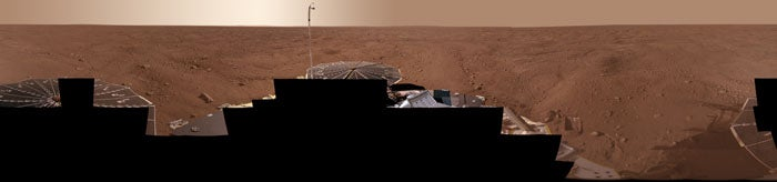 Phoenix Lander Has Touched Martian Water For the First Time