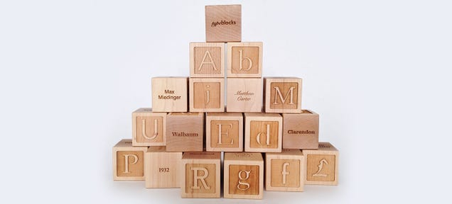 Typographic Building Blocks Teach Your Kids the Dangers of Papyrus