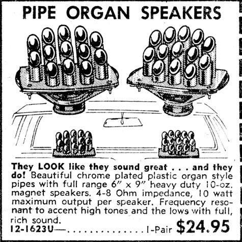 More 1975 JC Whitney Goodness: Pipe Organ Speakers!
