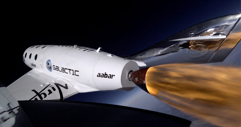 Beautiful footage of SpaceShipTwo's latest supersonic test flight