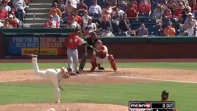 Adam LaRoche Hit A Ball About As Far As Possible Without Hitting A Home Run