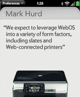 Obviously, HP's CEO Wants to Put WebOS In Printers