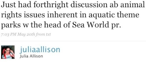 Julia Allison's Shill-erific Sea World Adventure