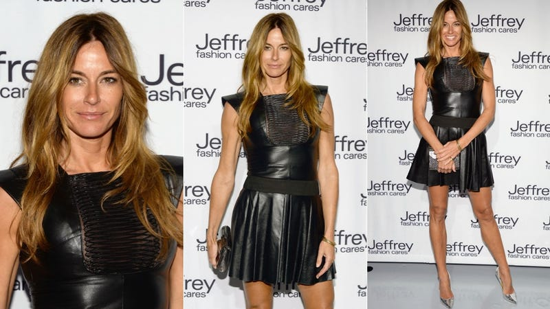 Sheer and Peek-a-Boo Outfits at the Jeffrey Fashion Cares Event