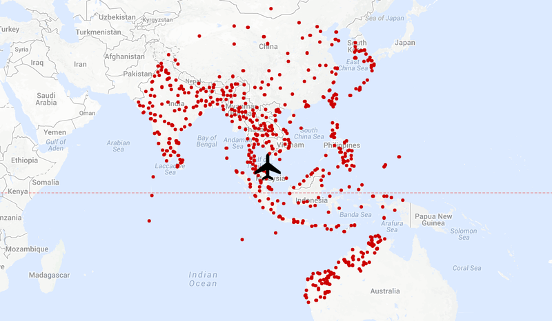 Here Are All the Places Malaysian Airlines 370 Could Have Maybe Landed