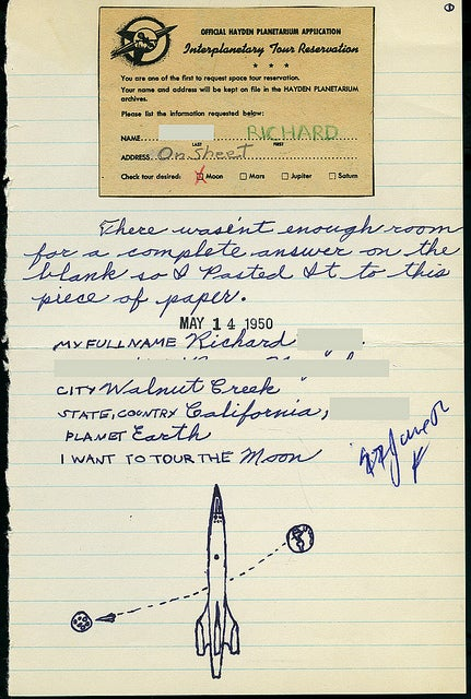 1950 letters from wannabe space travelers hoped for canine astronauts and Venusian dinosaurs