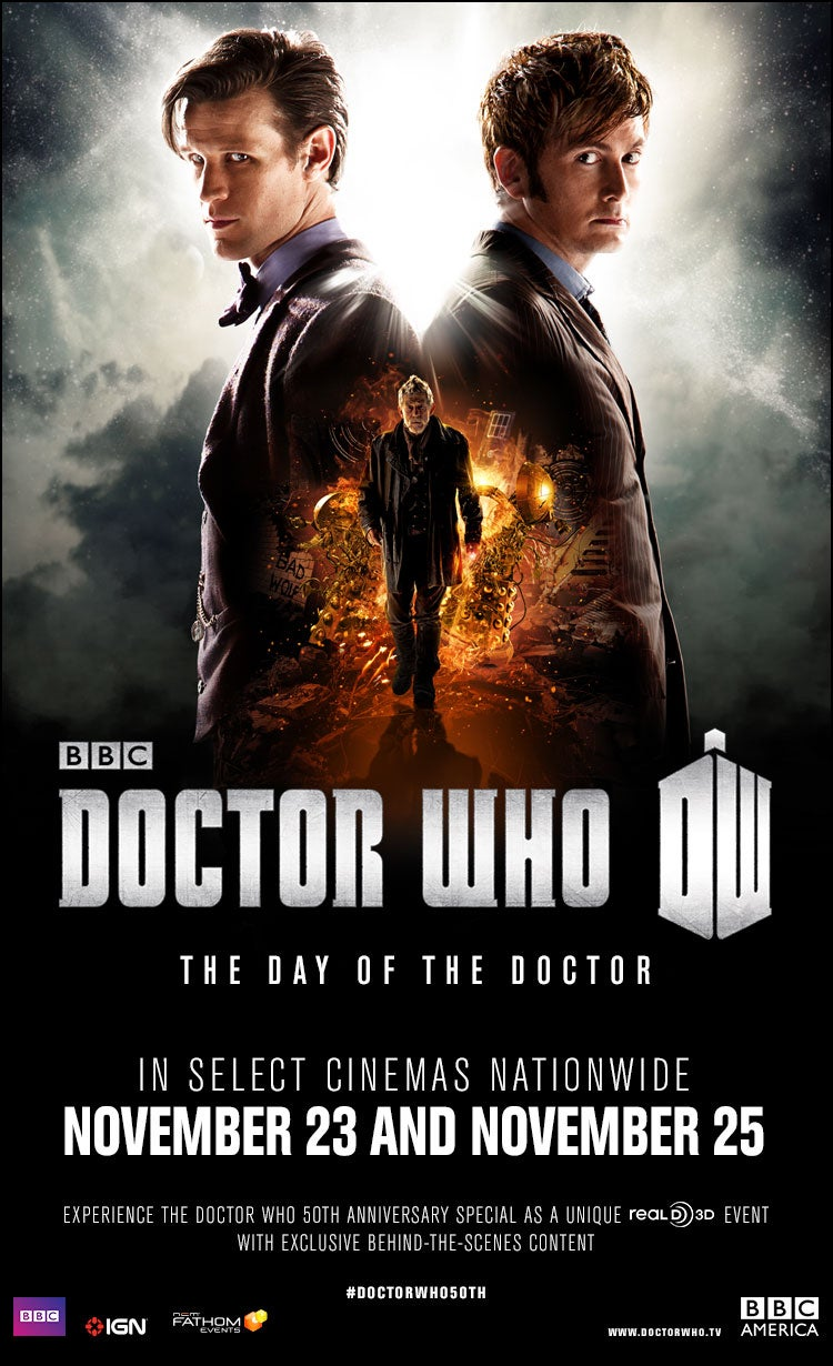 Full list of theaters showing Day of the Doctor released!!!