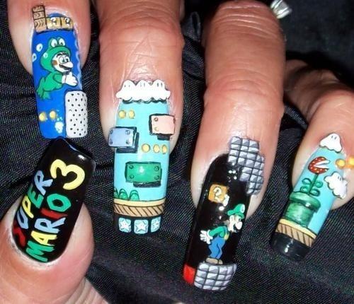 Super Mario Fingernails