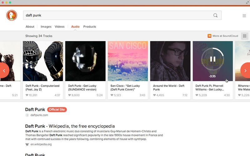 DuckDuckGo's New Interface with Image and Video Search Is Live