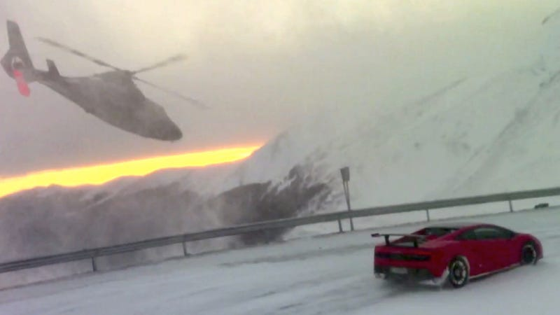Watch A Helicopter Dive Bomb A Lamborghini In Vampire Territory