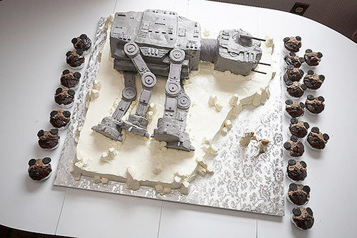Dead AT-AT Wedding Cake Probably Got the Groom Dead Too