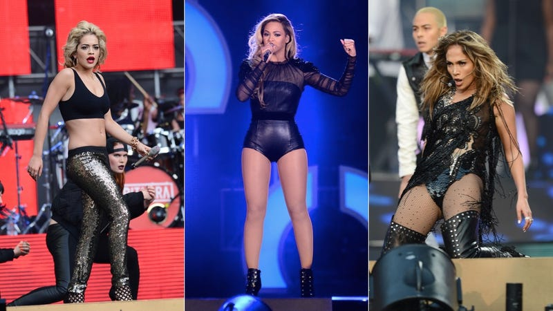 Pop Stars Celebrate Women's Rights in Stilettos and Leather Underwear