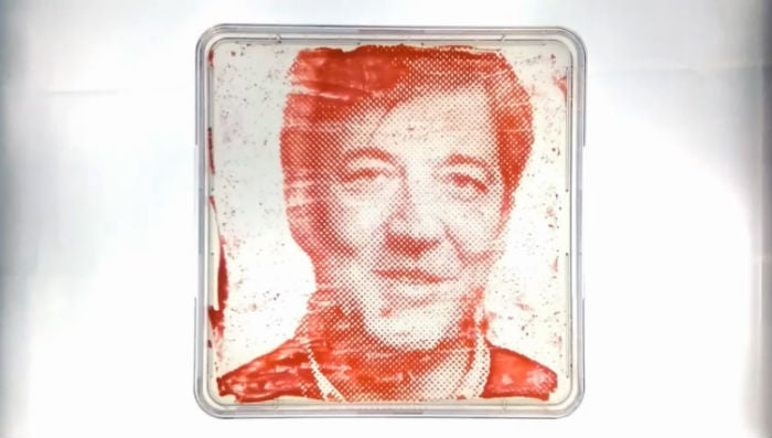This Portrait of Stephen Fry Was Made From His Own Bacteria