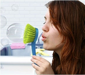 Bubble-Blowing Dish-Scrubber Taunts ADHD Sufferers
