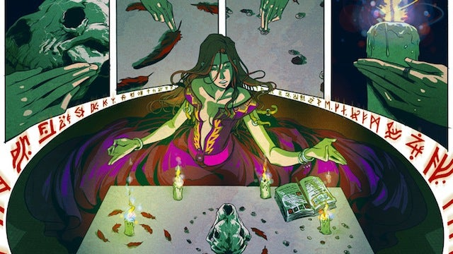 A woman's curse gives her boyfriend superpowers in the webcomic Sam & Lilah