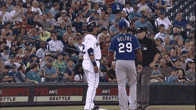 An Adrian Beltre Head-Touching Attempt, Foiled