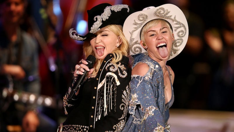 ​Miley Cyrus and Madonna Hump, Grind, and Spank During MTV Duet