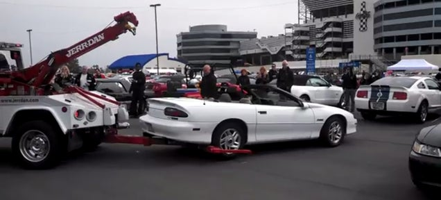 Camaro Crashes Mustang's 50th Birthday With Predictable Results
