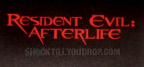 Here Is Your Resident Evil: Afterlife Logo
