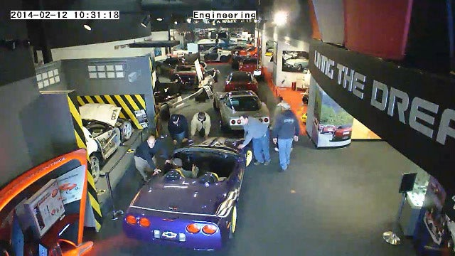 Corvette Museum Evacuates Their Cars Most At-Risk From Sinkhole