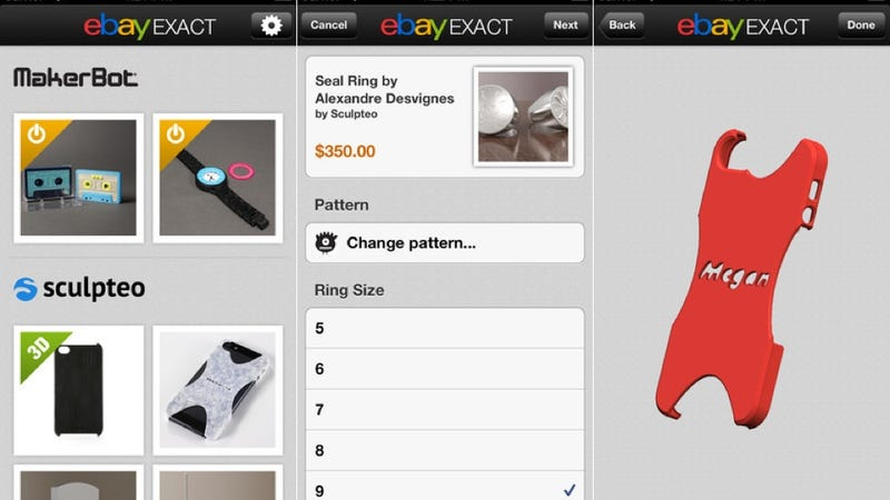 New eBay App Lets You 3D Print Stuff Without Your Own Printer