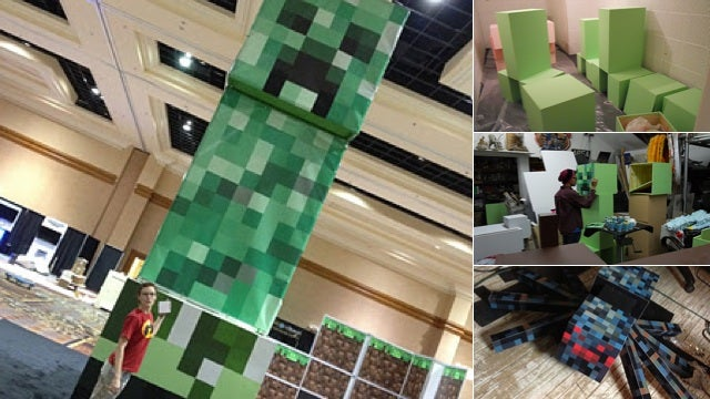 A Photo-Gallery Look at the Creation of Minecon's Amazing Minecraft Models