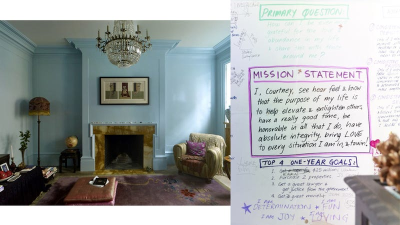 A Peek At The Vision Board Inside Courtney Love's Tasteful Townhouse