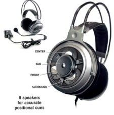 Turtle Beach Ear Force AK-R8 Gaming Headset: The Eight Means Eight Speakers