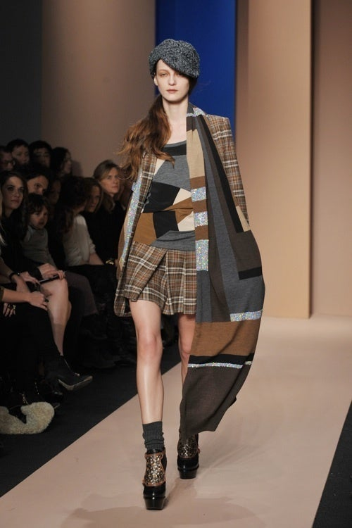 DKNY: Patterns And Platforms And Pleats, Oh My!