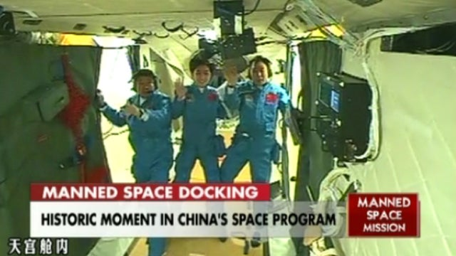 China is the third country to dock a crewed vessel in space