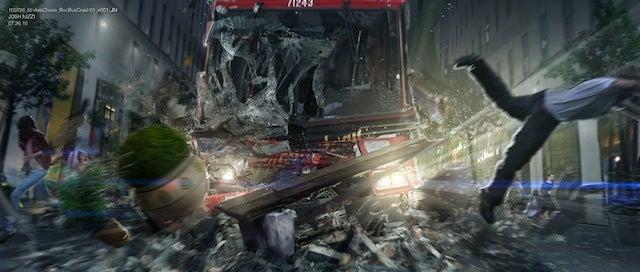Concept art reveals the double-decker chase scene cut from The Amazing Spider-Man