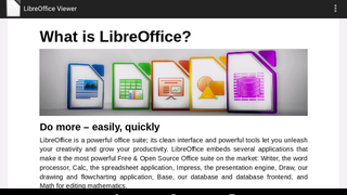 Libre Office Viewer Reads Nearly Any Office File Type