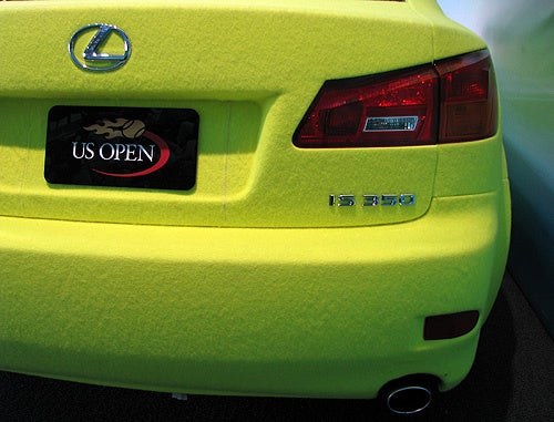 Lexus Creates Tennis Ball Fuzz-Covered IS 350 For U.S. Open