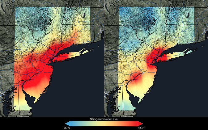 A Map of How Much Better US Air Quality Has Gotten in the Last Decade