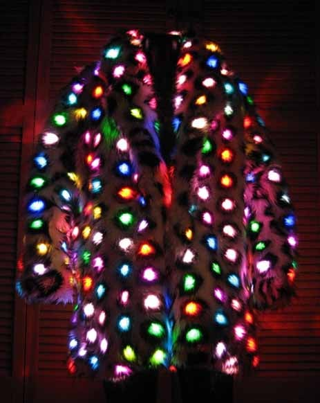 Fake Fur Coat Goes LED Insane