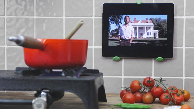 Mount Your Tablet above the Kitchen Counter with Sugru