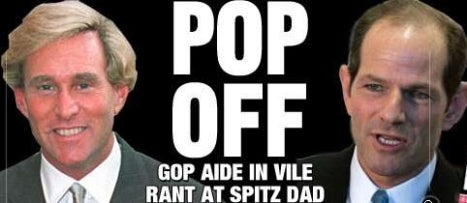 Who Made Mean Calls To Governor Spitzer's Dad?
