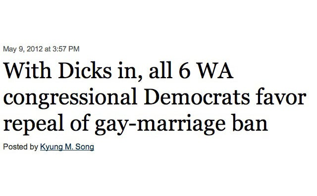 This Gay Marriage Headline Could Have Used Another Proofreader