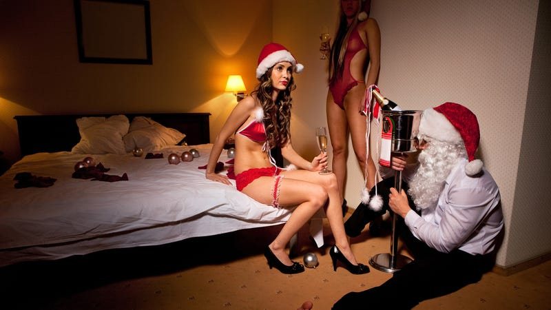 The Unbelievably Absurd World of Sexy Santa Photos
