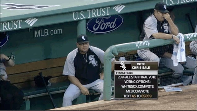 White Sox Coach Aggressively Adjusts Himself
