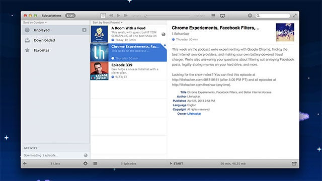 Instacast for Mac Manages and Syncs Your Podcasts with Your iPhone