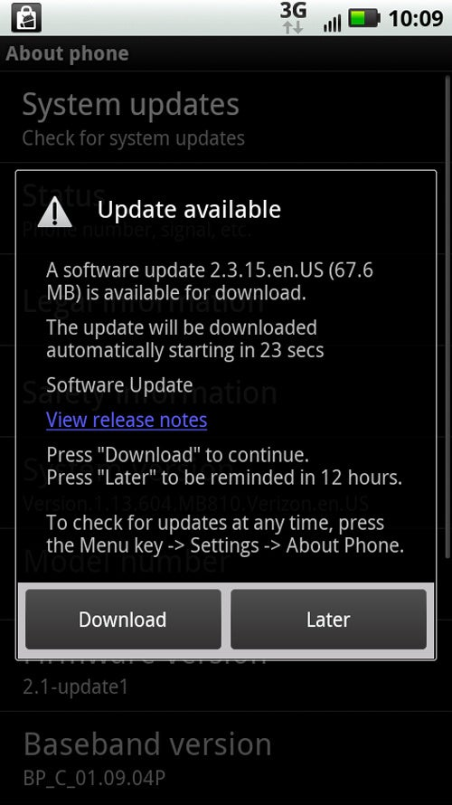 Download Froyo for Droid X Now