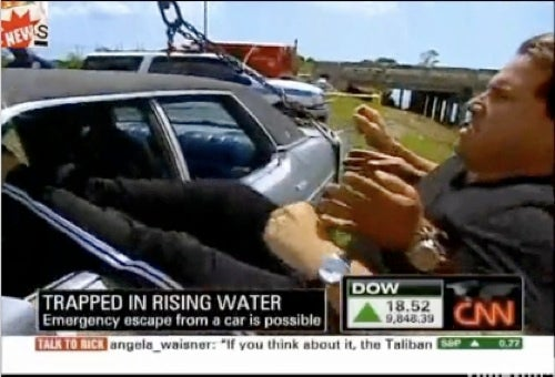 Unfortunately, CNN's Rick Sanchez Escapes From Sinking Car