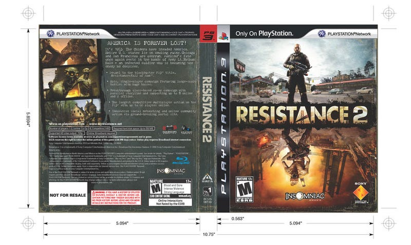 Don't Like The Resistance 2 Cover? Print Your Own