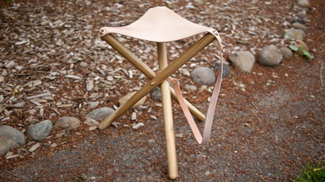 DIY Tripod Outdoor Stool