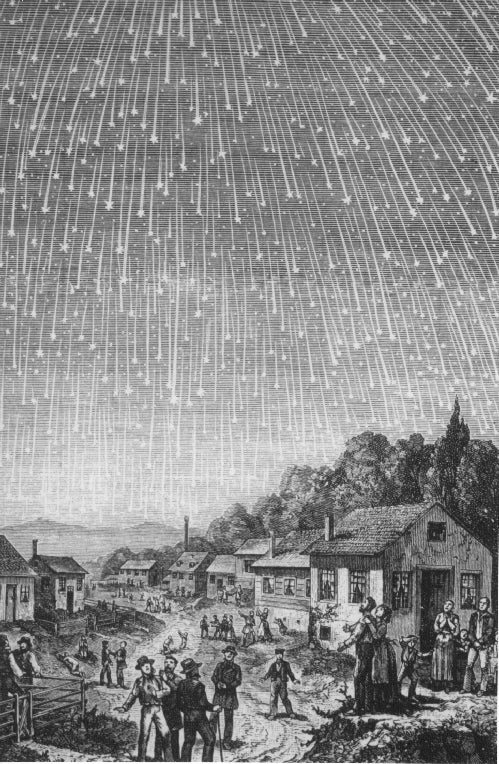 Great Meteor Storms in History