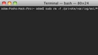 Speed Up Terminal by Clearing ASL Logs