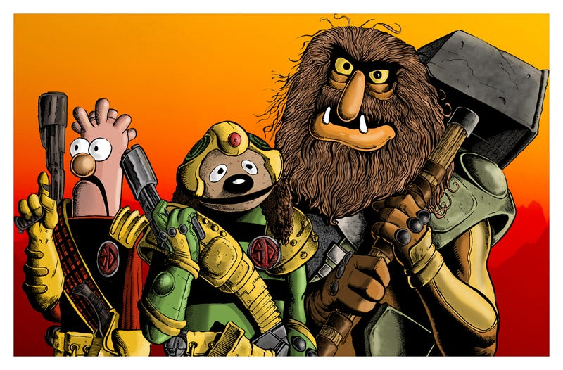Judge Statler and Judge Piggy are the Law of Muppet Mega-City One