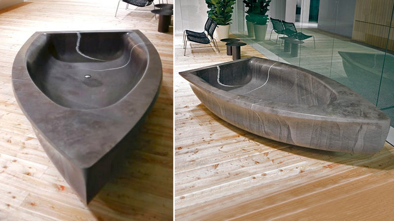Row, Row, Row Your Stress (and College Fund) Away In This Stone Bathtub Boat