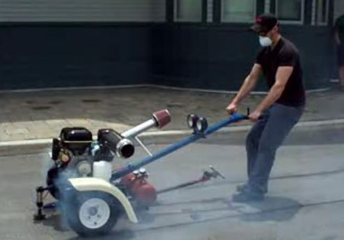 Burnout Machine: Tire Smoking Action Without a Vehicle